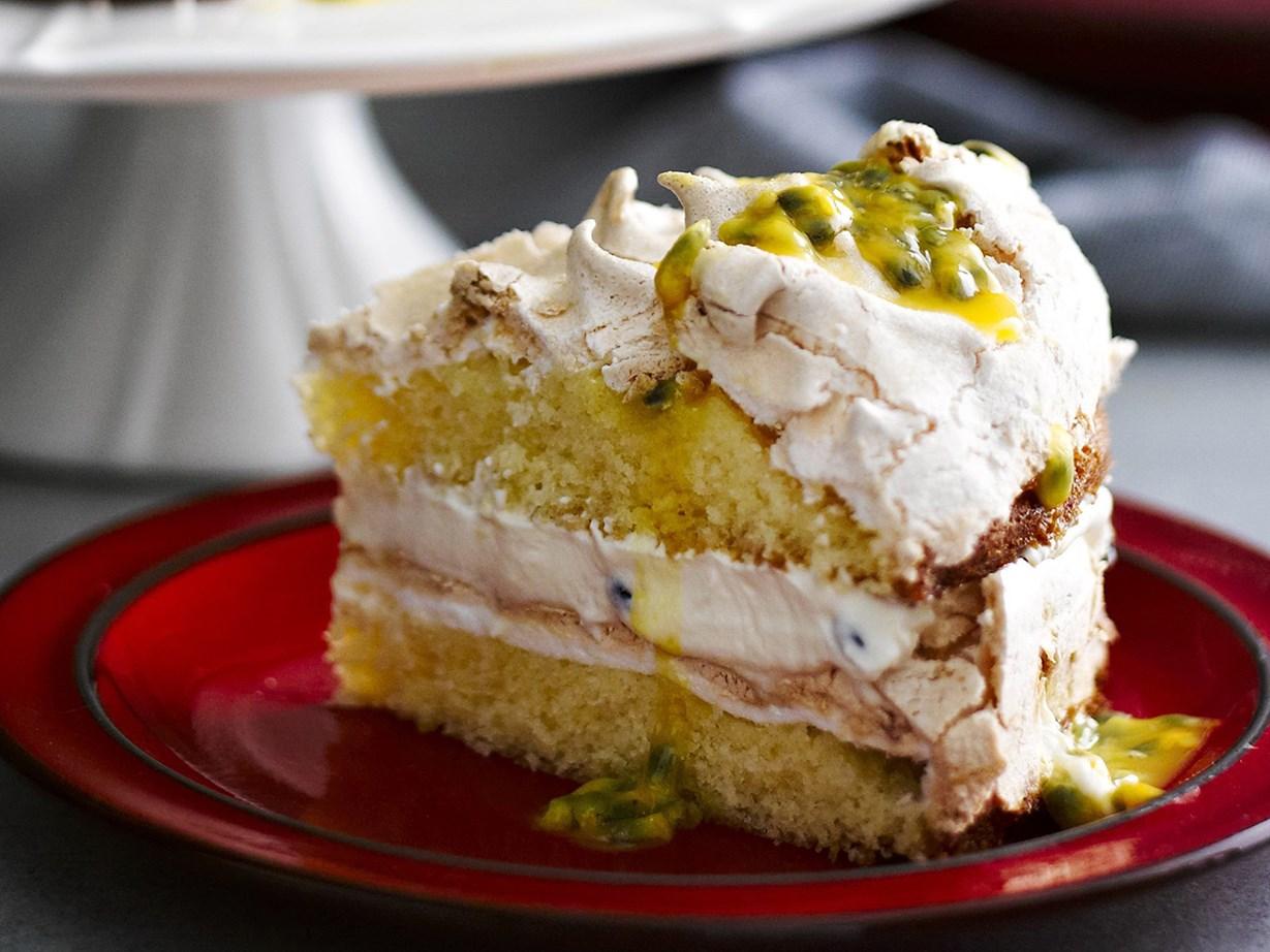 Passionfruit meringue cake recipe Food To Love