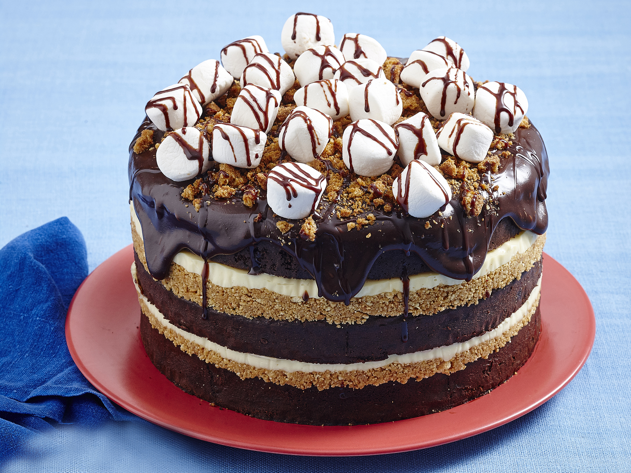 Chocolate S Mores Cake Recipe