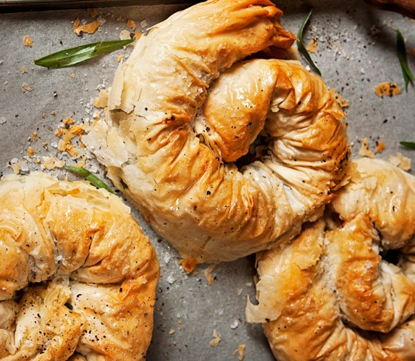 Chicken & Cheese Filo Scrolls