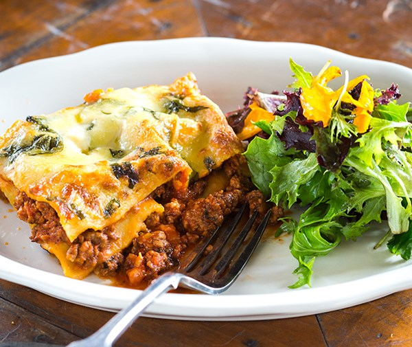Lasagne with rich ragu