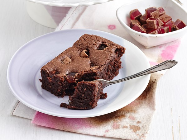 Flourless turkish delight brownies