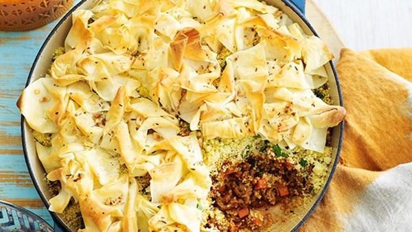 Moroccan beef pie