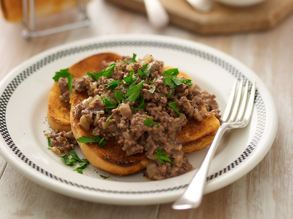 Classic mince on toast