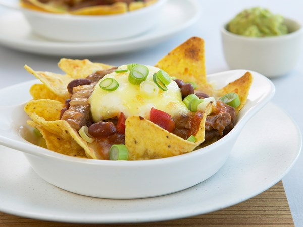 Beef mince nachos
