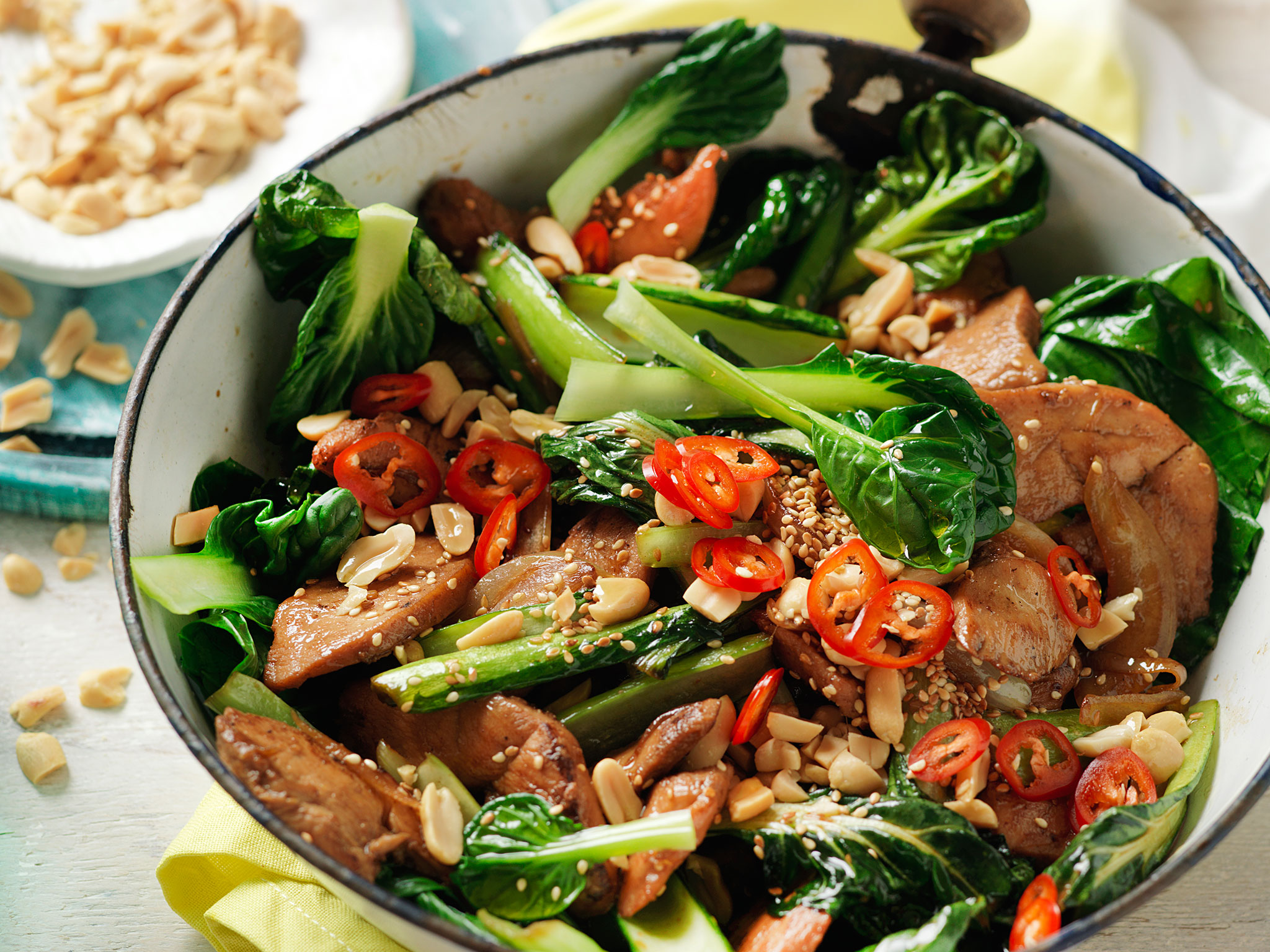 honey soy pork stir fry