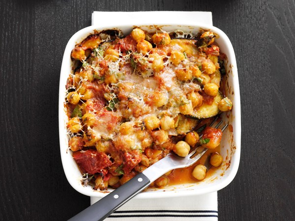 Chickpea and vegetable gratin