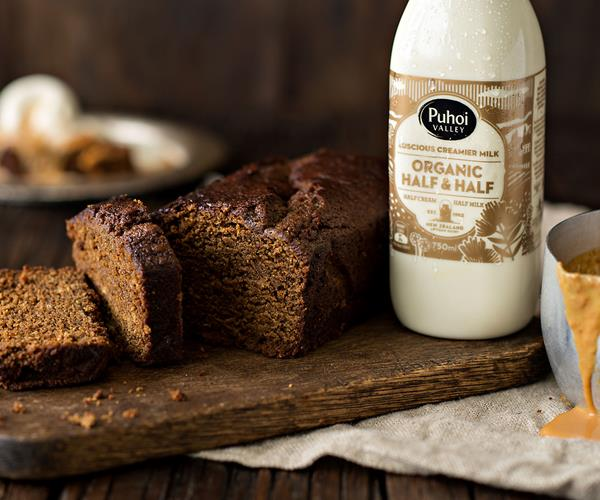 Gingerbread loaf cake with a creamy caramel sauce recipe | Food To ...