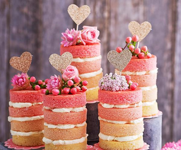 Mini Rose Pink Ombre Cakes Recipe Food To Love
