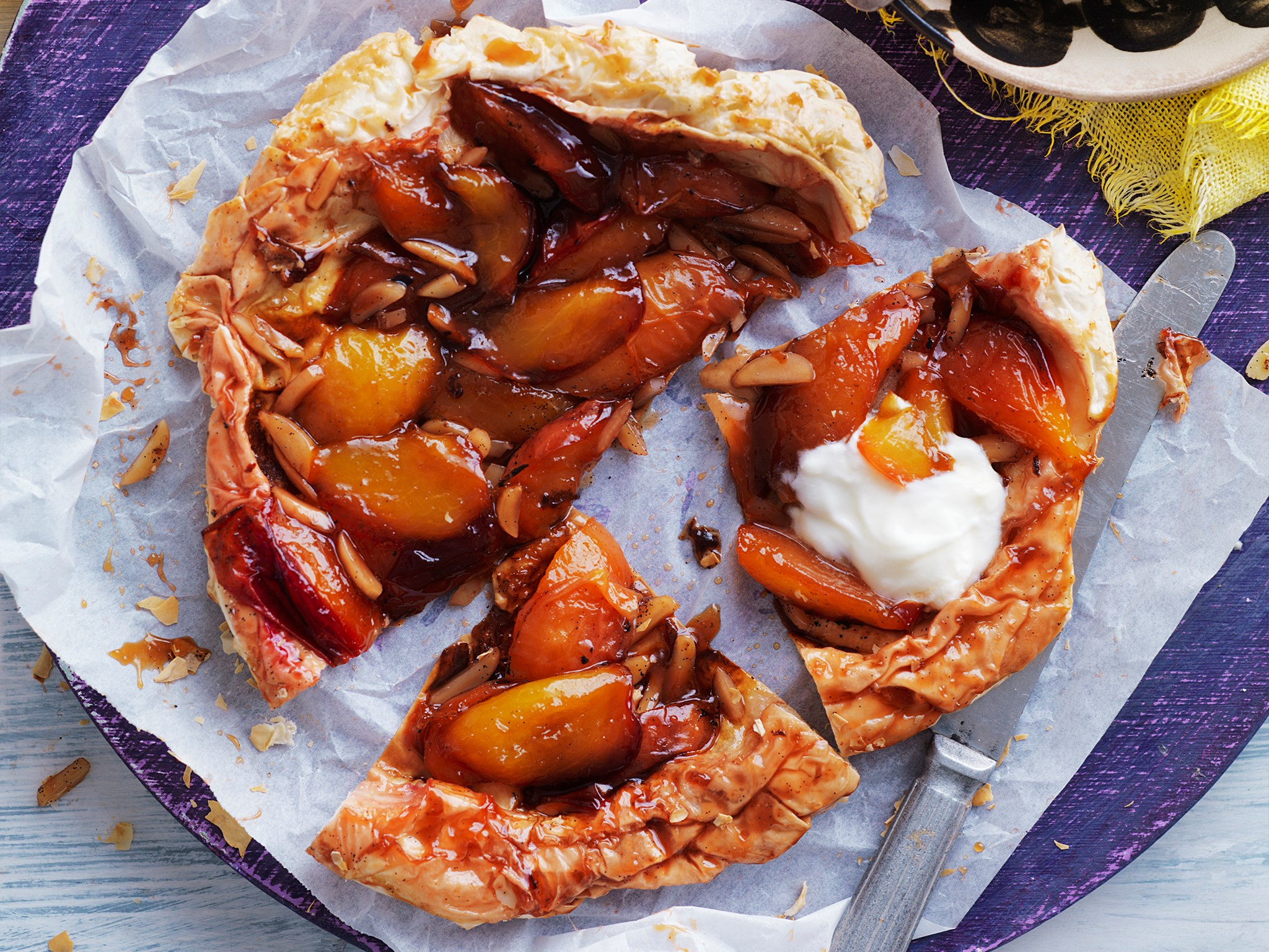 nectarine and almond tarte tatin recipe