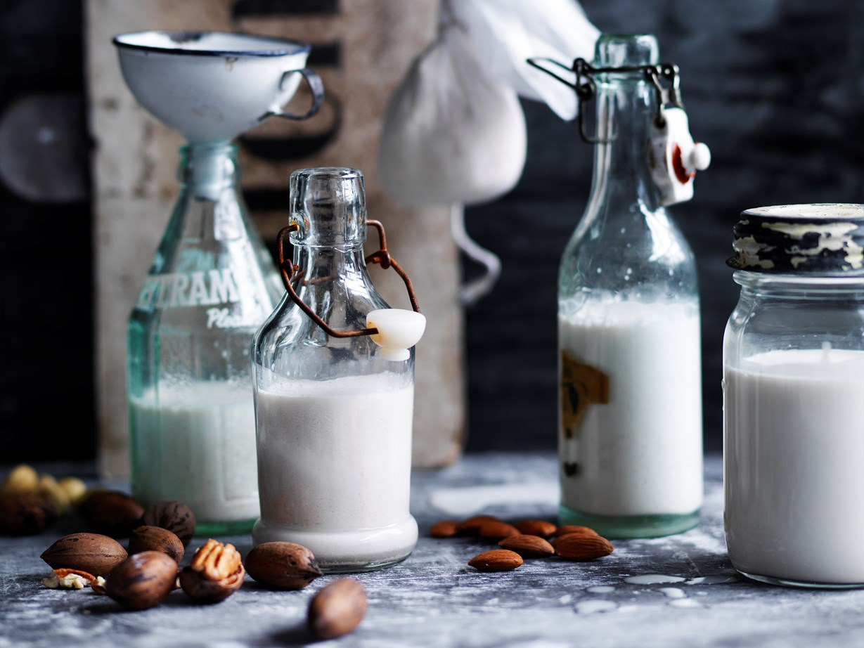"[Nut milks](http://www.foodtolove.co.nz/recipes/dairy-free-nut-milks-33663|target=""_blank"") are a delicious dairy-free change."
