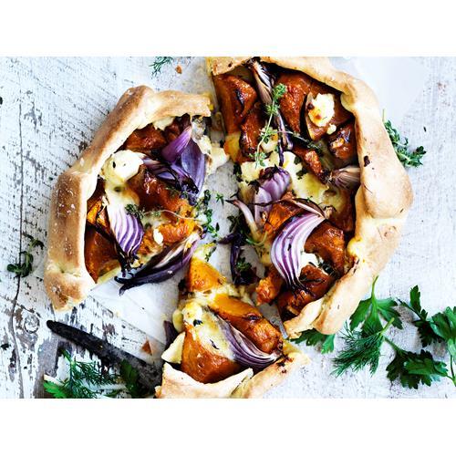 Pumpkin and feta free-form tart recipe | Food To Love