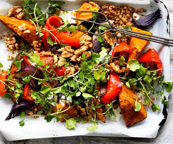 Lebanese roasted pumpkin salad recipe food to love lebanese roasted pumpkin salad forumfinder Choice Image