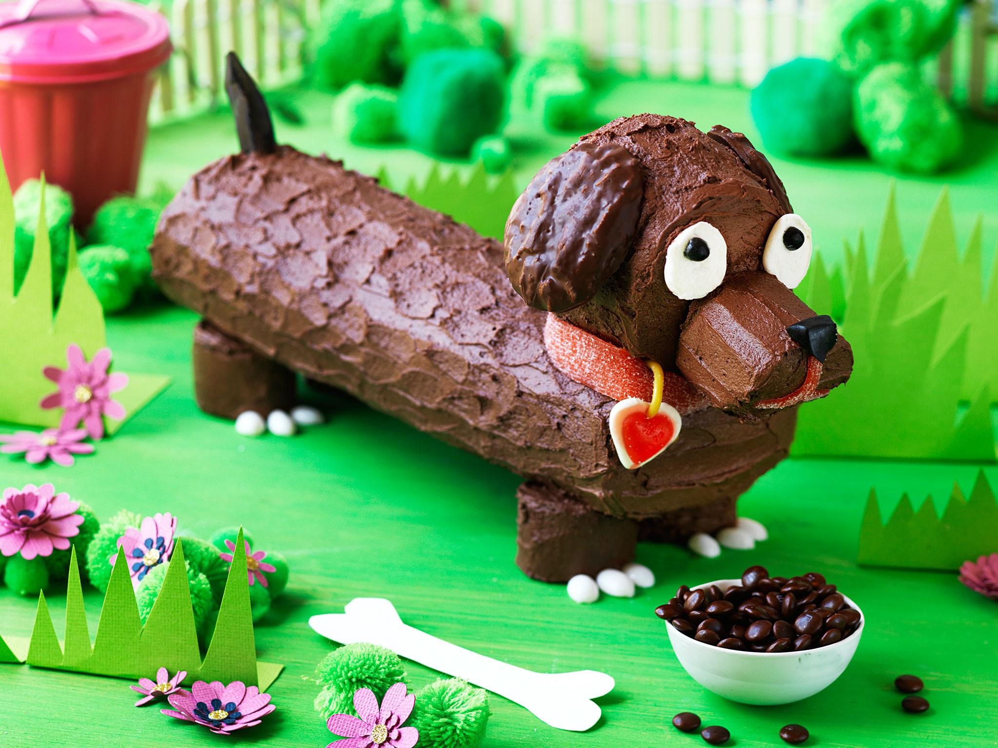 Mini Sausage Dog Cake Topper