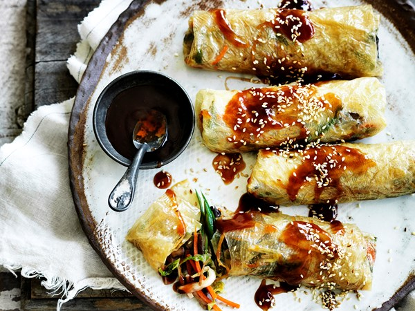 Vegetable bean curd rolls