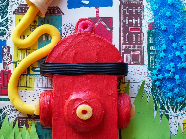 Fire hydrant cake