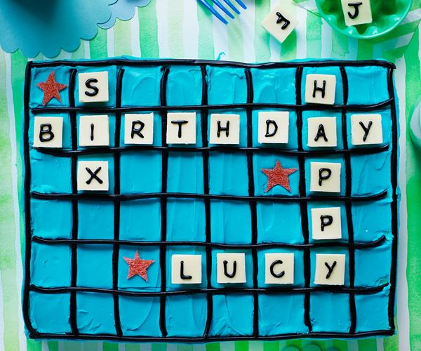 Scrabble Birthday Cake Recipe