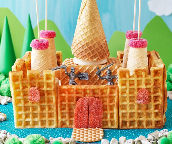 Waffle Castle Cake Recipe Food To Love