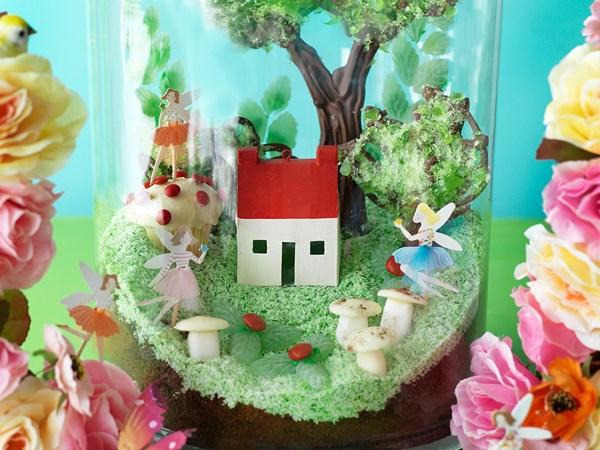 Fairy terrarium cake