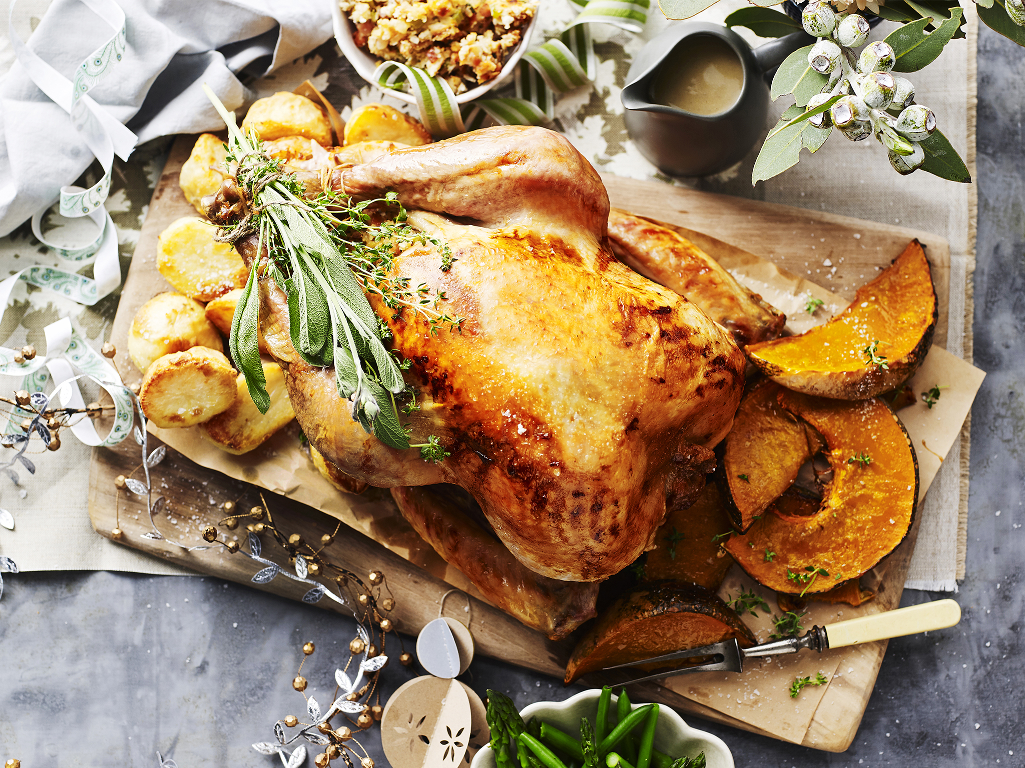 Roast turkey with bacon onion and sage dressing recipe food to love forumfinder Image collections
