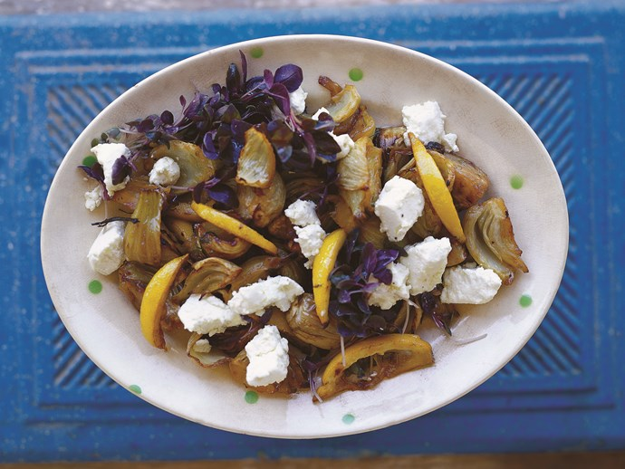 "[Fennel with goat's curd](http://www.foodtolove.com.au/recipes/fennel-with-goats-curd-31271|target=""_blank"")"