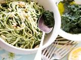 Kale, lemon & garlic purée with pasta