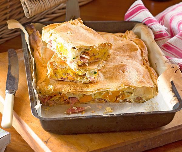 how to make bacon and egg pie