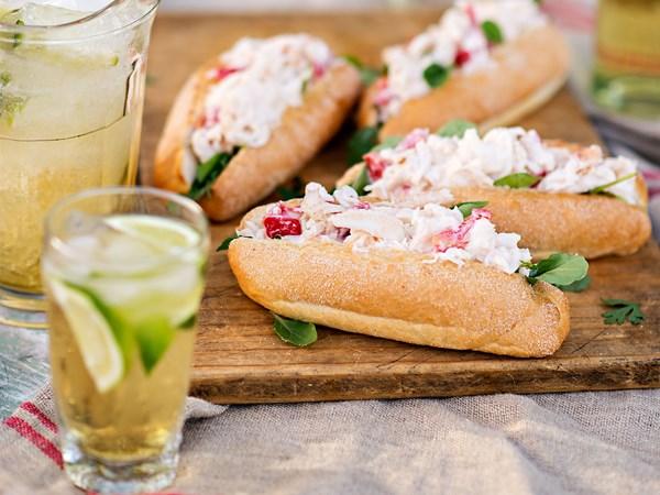 Kiwi crayfish rolls