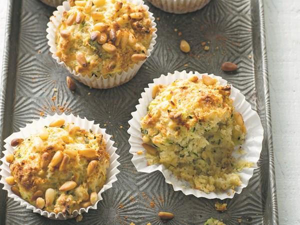 Zucchini, parmesan and basil muffins