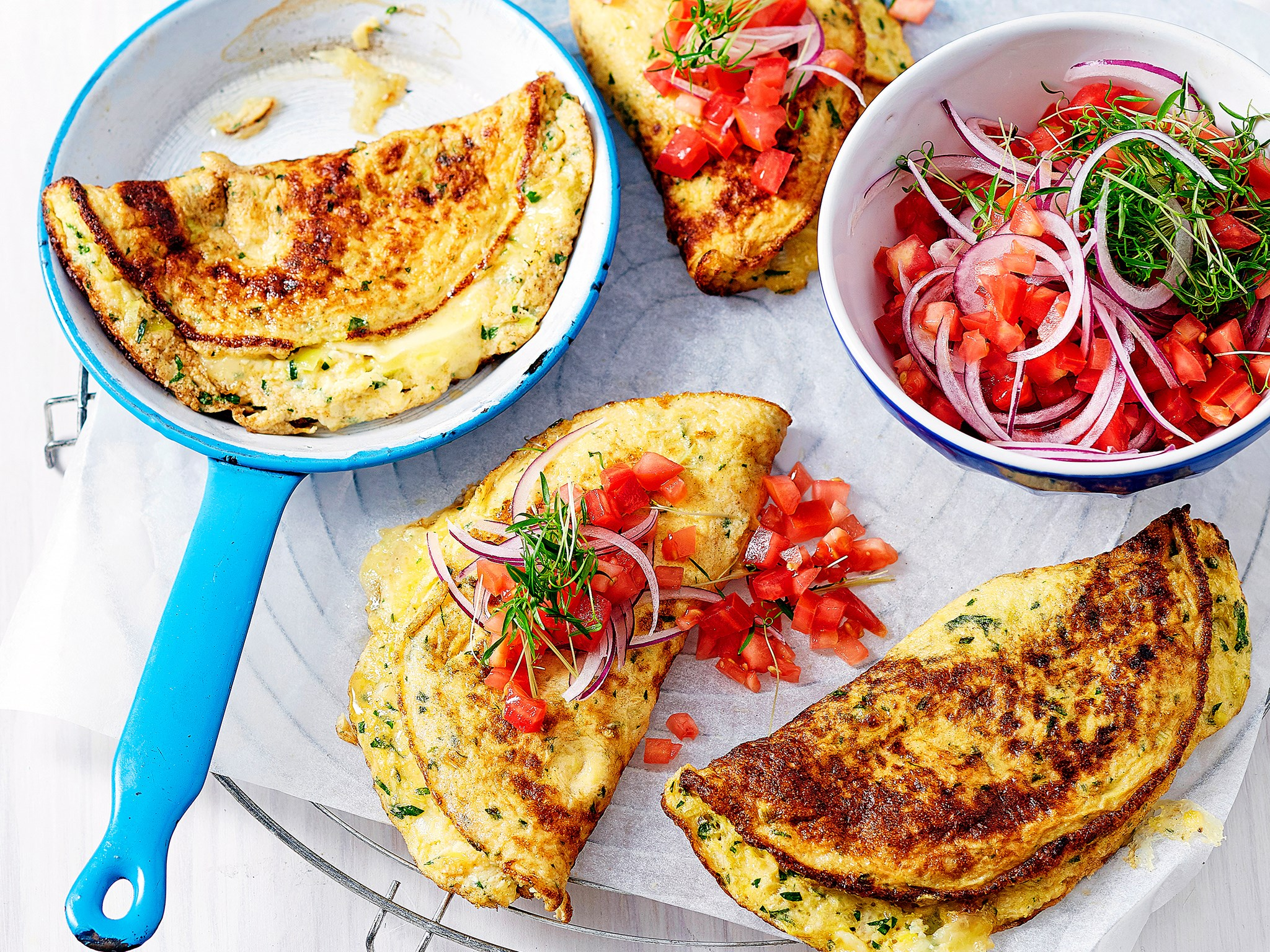 Cauliflower and brie omelette