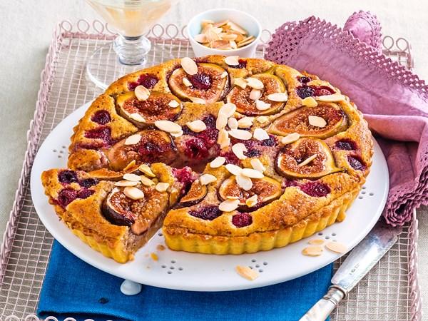 Caramelised fig frangipane tart