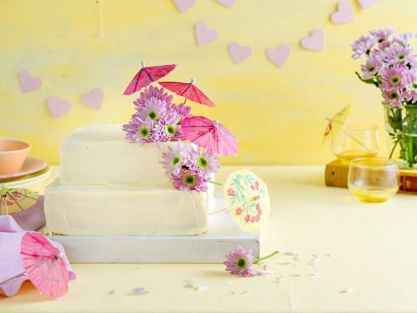 Pretty parasol cake