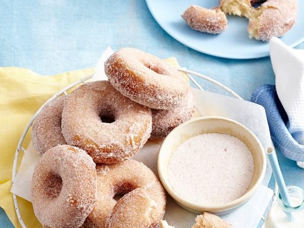 Homemade cinnamon doughnuts