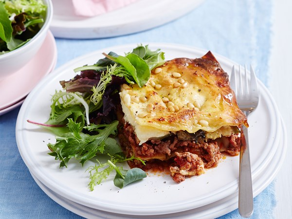 Family lasagne with roast veg