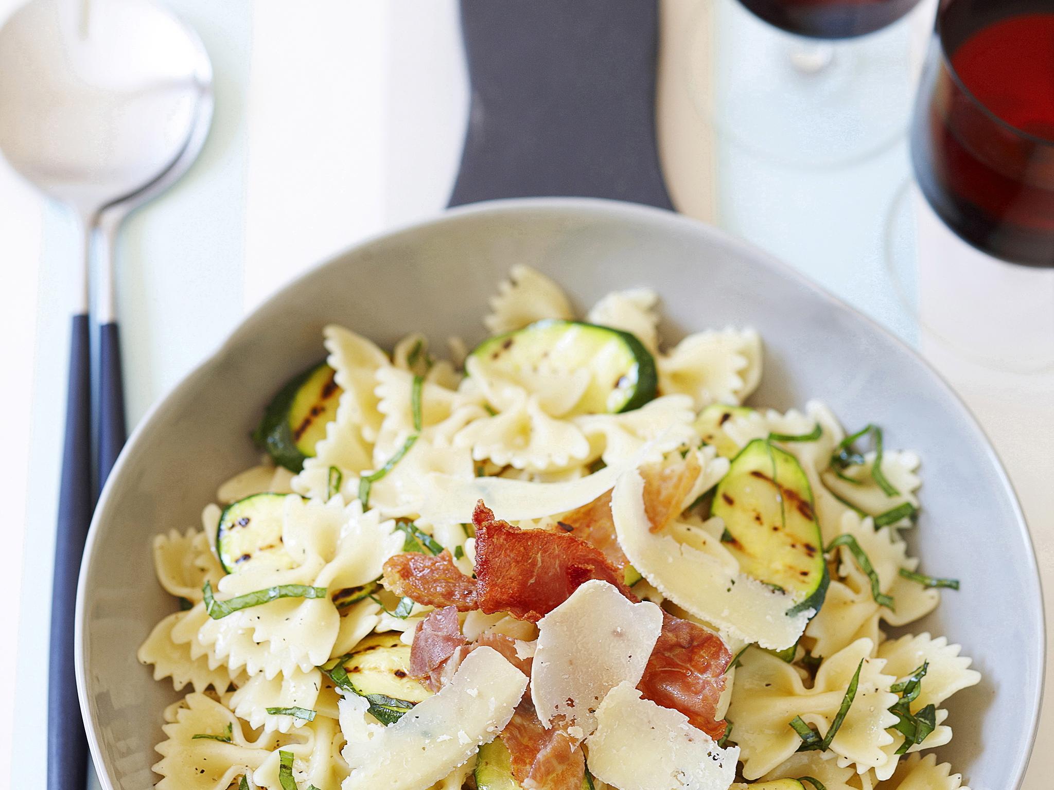 Courgette pasta salad recipe