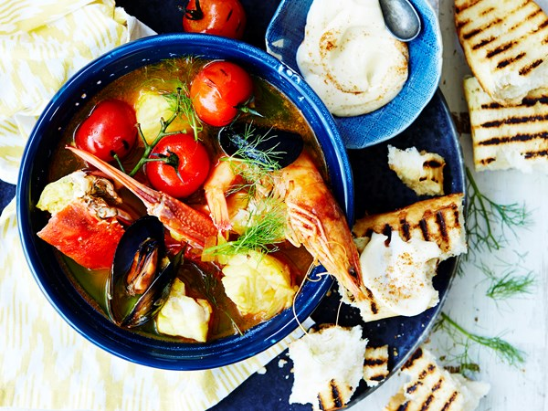 Quick and easy bouillabaisse
