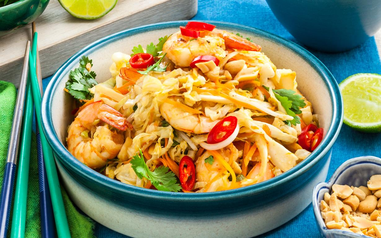 Cabbage And Prawn Pad Thai Recipe Food To Love