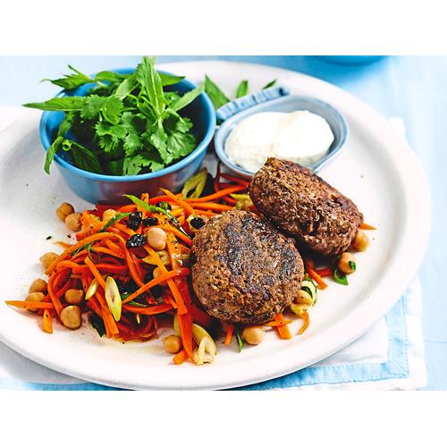 Lamb meatballs with warm carrot and chickpea salad recipe | Food To ...