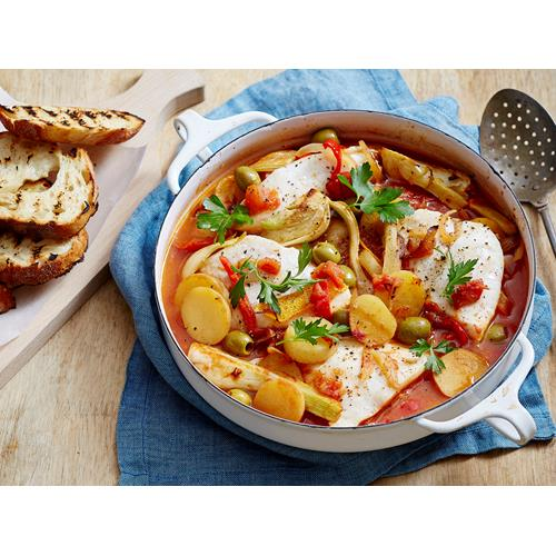 Spanish Fish Casserole Recipe With Potatoes And Fennel