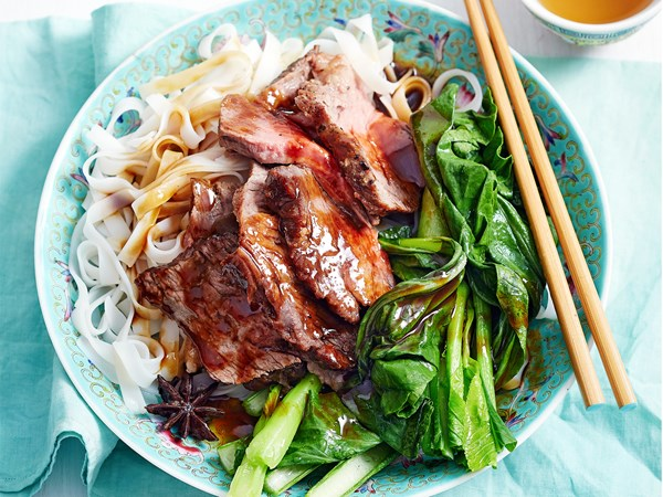 Hoisin beef pot roast with noodles