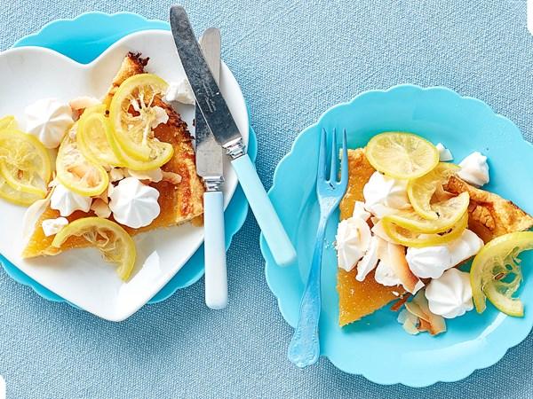 Lemon curd galette