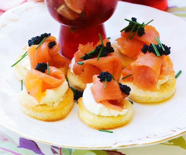 Smoked salmon and caviar blinis recipe | Food To Love