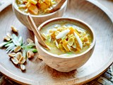 Curried pumpkin and peanut soup