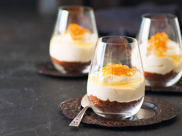 Spiced orange and Cointreau cheesecakes