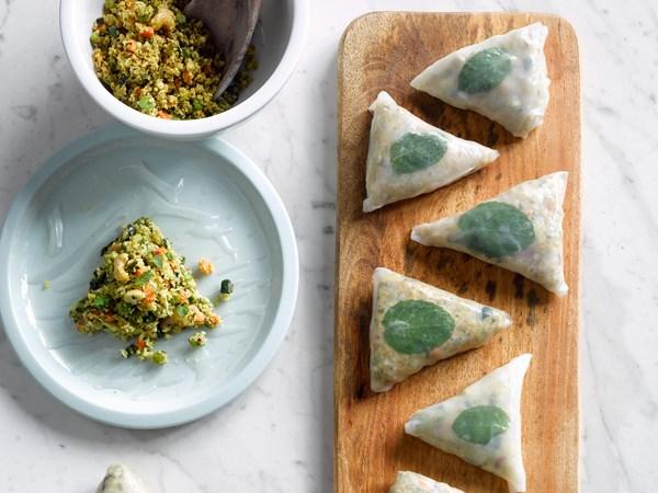 Megan May's spicy samosa wraps