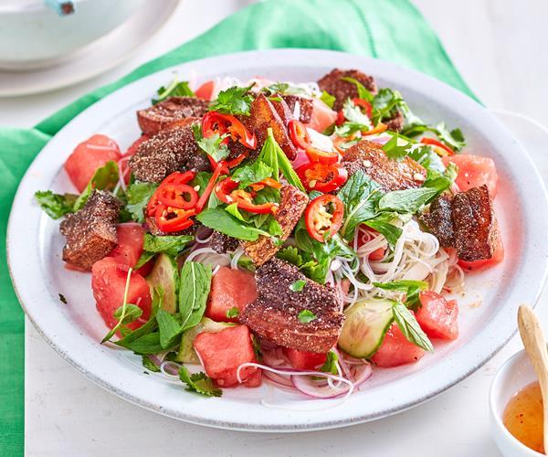 mint salad crispy pork and watermelon crispy pork and watermelon salad ...