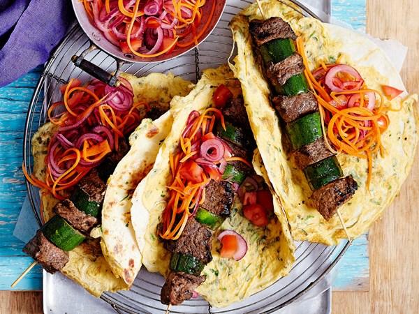 Kati-style beef chapati rolls