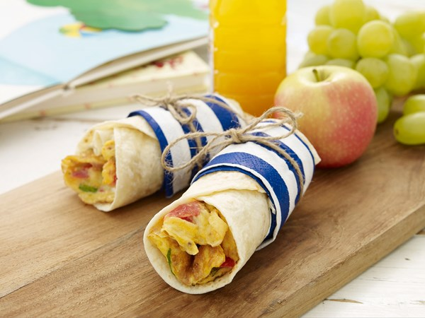 Cheese and tomato breakfast wrap
