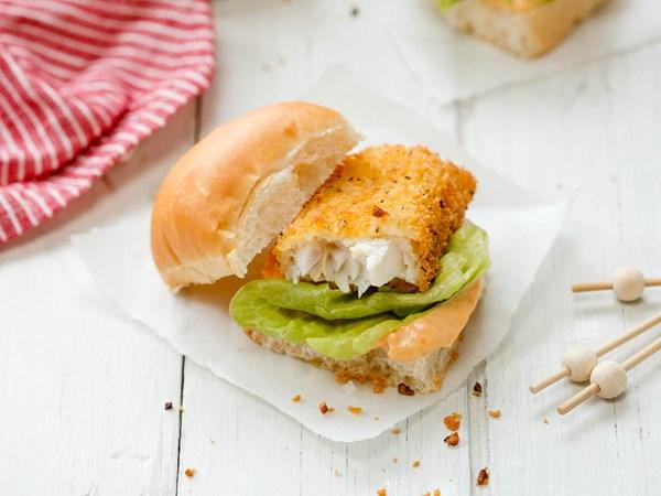 Lemon pepper fish sliders