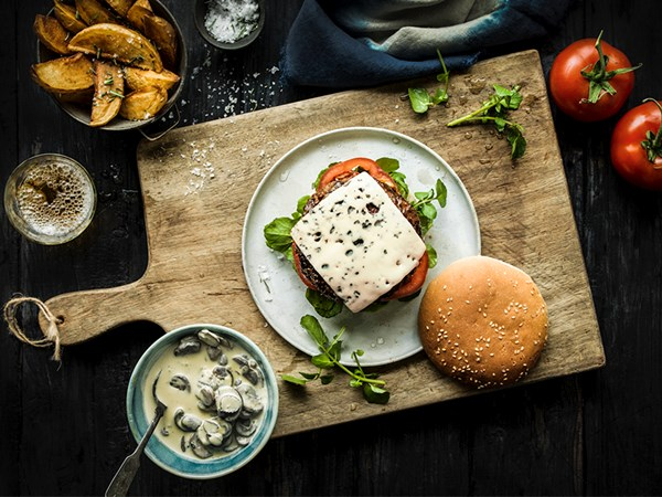 Aussies can now purchase pre-sliced blue cheese for our burgers