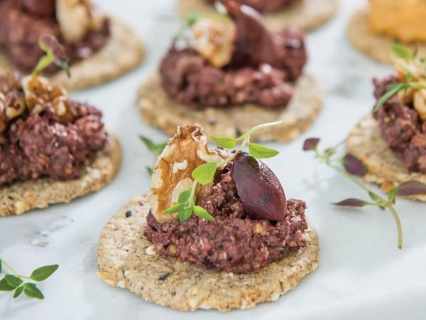 Black olive and walnut pâté